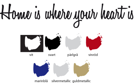 Väggord Home is where your heart is